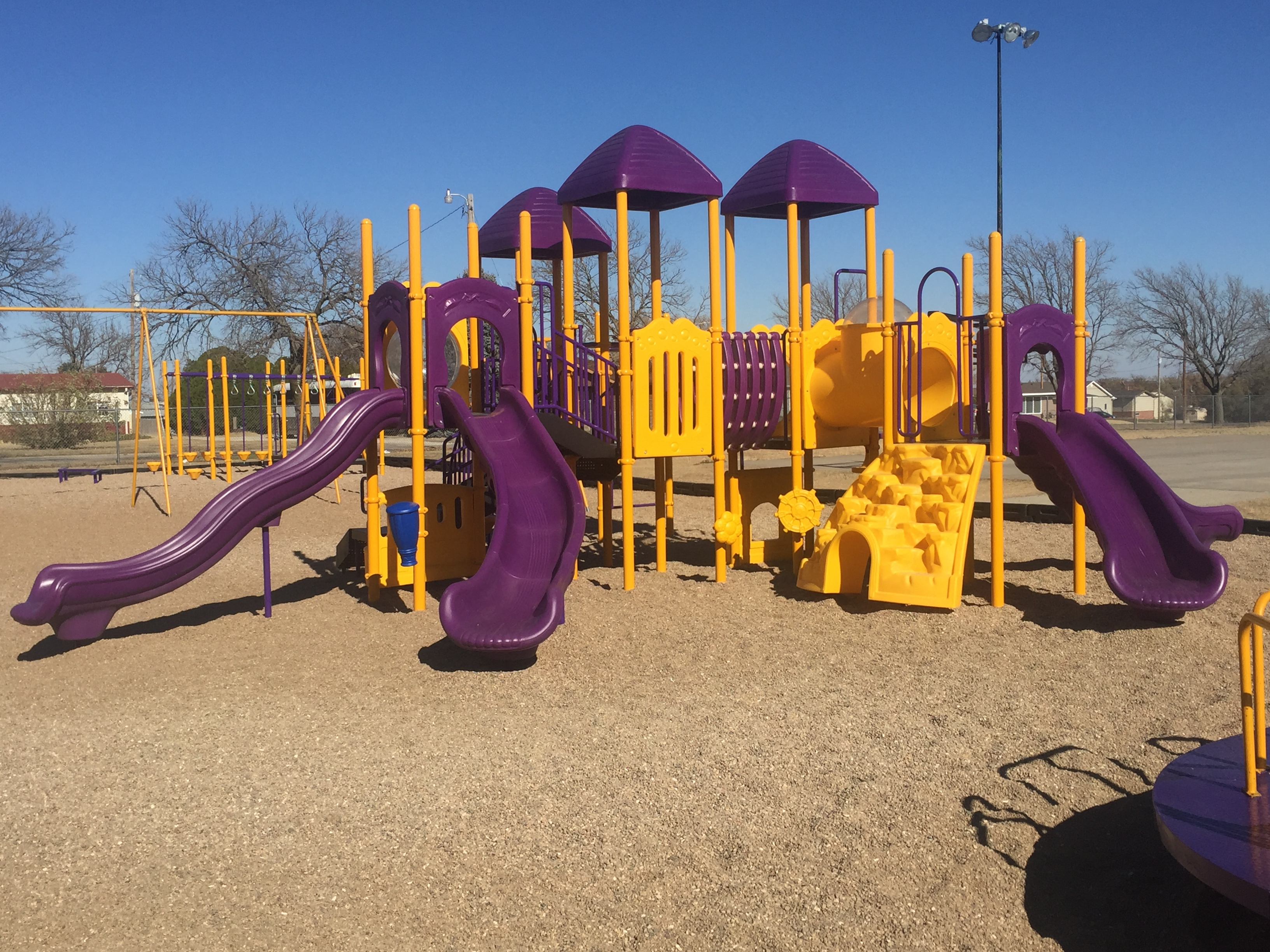 Playground at Trego Grade School