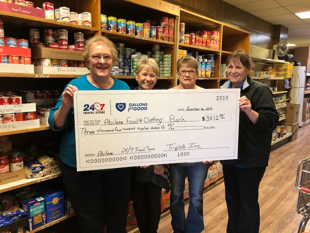 Abilene Store Raises $3,412.55 for Abilene Area Food & Clothing Bank