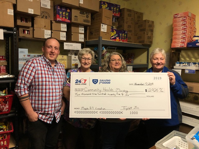 Maple Hill Store Raises $2,925.17 for Community Health Ministry