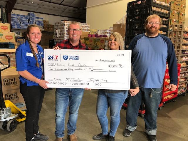 Salina Stores Raise $4,052.95 for Salina Emergency Aid/Food Bank